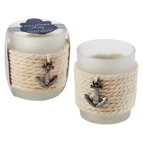 12ct Anchors Away Rope Tealight Holder - image 1 of 1
