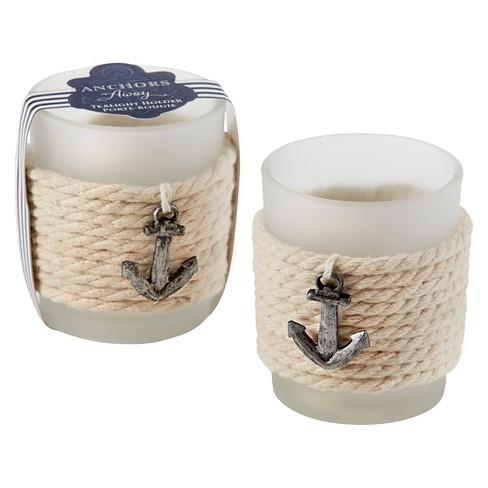 12ct Anchors Away Rope Tealight Holder - Kate Aspen® - image 1 of 1