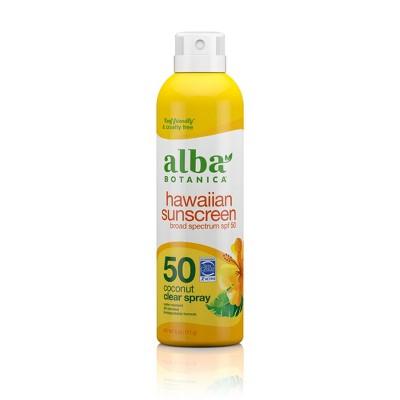 Alba Botanica Hawaiian Coconut Sunscreen Spray - SPF 50 - 6 fl oz