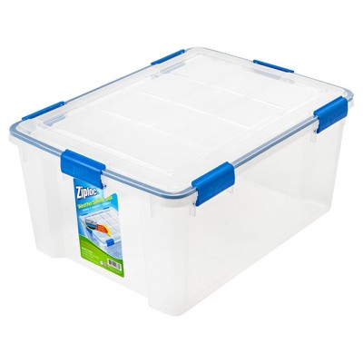 Ziploc 60 Qt WeatherShield Clear Storage Box