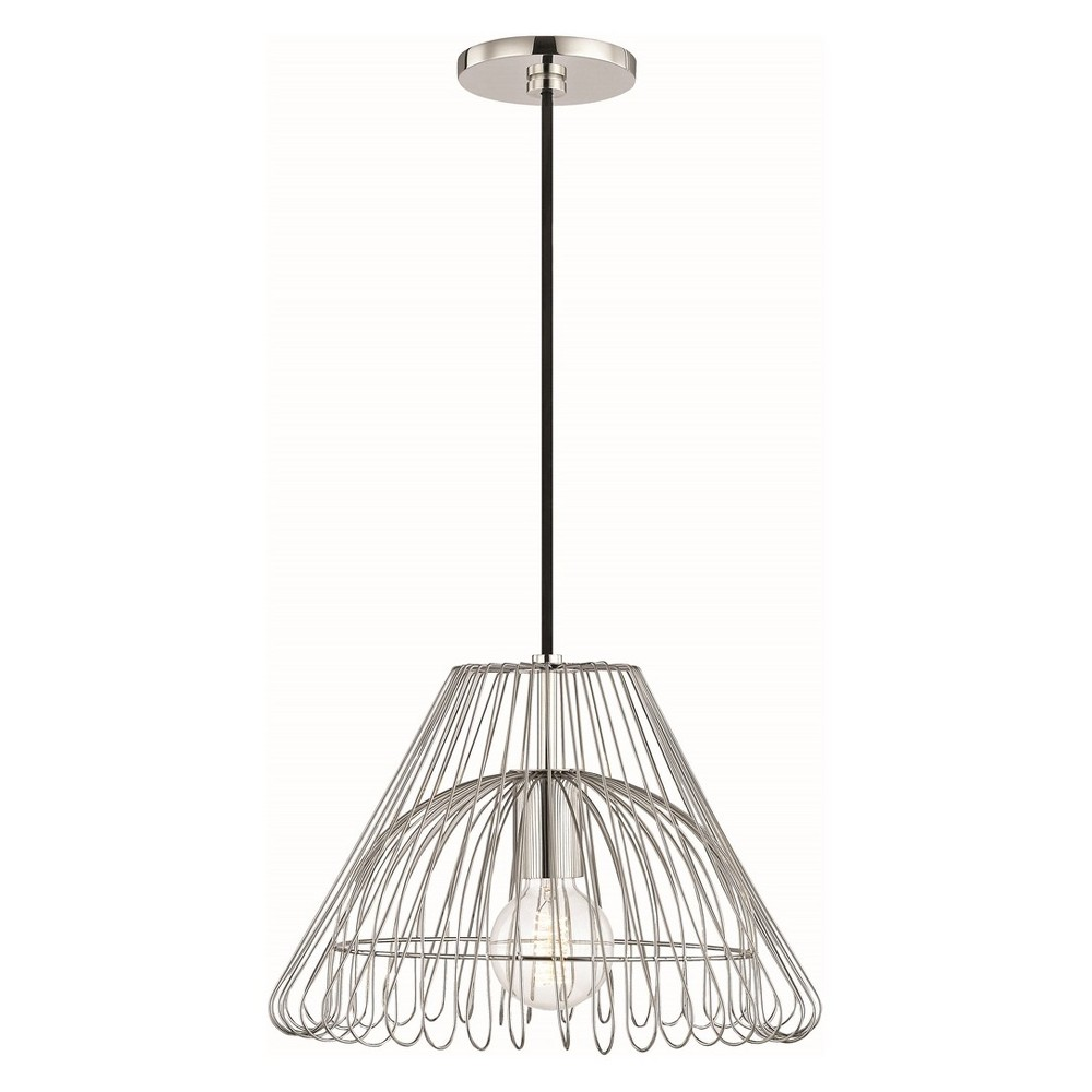1pc Katie Small Light Pendant Brushed Nickel - Mitzi by Hudson Valley