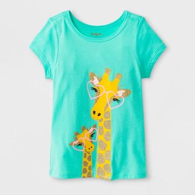d6b64ee997b84e Toddler Girls  Adaptive Short Sleeve Giraffe Graphic T-Shirt - Cat   Jack™