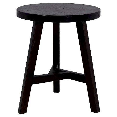 Chase End Table Small Stool Dark Brown Threshold