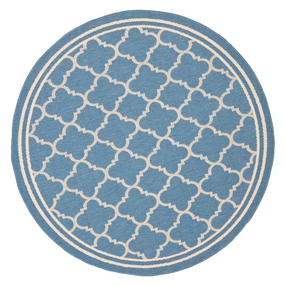 Cheap 710 Round Renee Outdoor Patio Rug Blue Beige - Safavieh