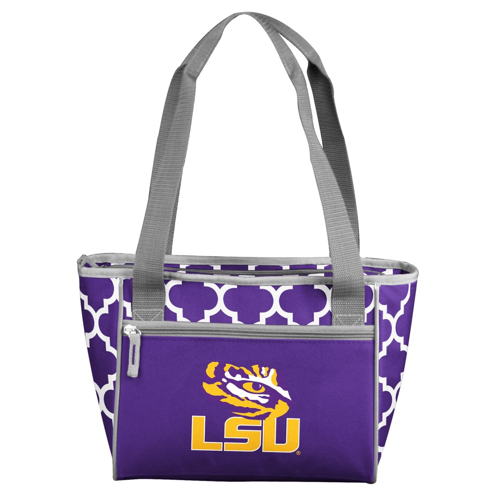 NCAA Logo Brands 16 Can Cooler Tote Lsu Tigers, Purple/Gold