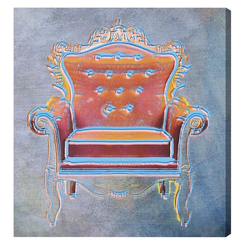 "Image of ""Oliver Gal Unframed Wall """"The Throne Ii"""" Canvas Art (20x20), Multi-Colored"""