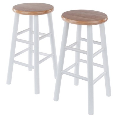 "2pc 24"" Tabby Counter Height Barstools Set - Winsome"