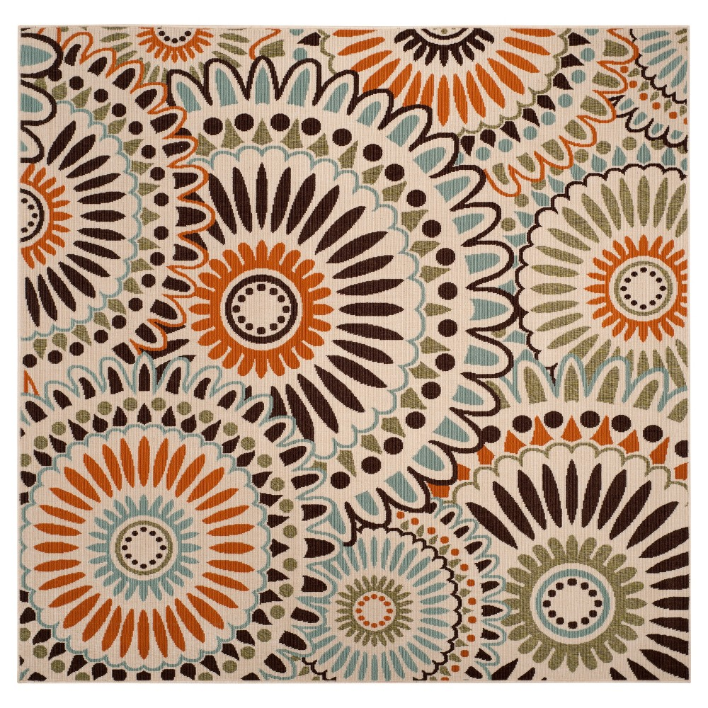 Plymouth Area Rug - Cream/Chocolate (Ivory/Brown) (6'7