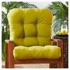 Solid Outdoor Seat/Back Chair Cushion - Kensington Garden - image 2 of 4
