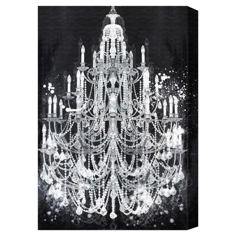 "Image of ""Oliver Gal Unframed Wall """"Privee Diamonds"""" Canvas Art (24x16), White"""