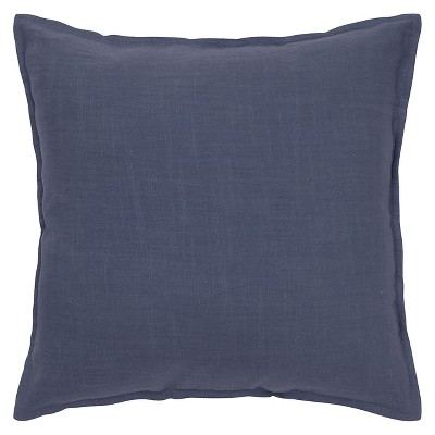 Navy Solid Throw Pillow (20 x20 )- Rizzy Home