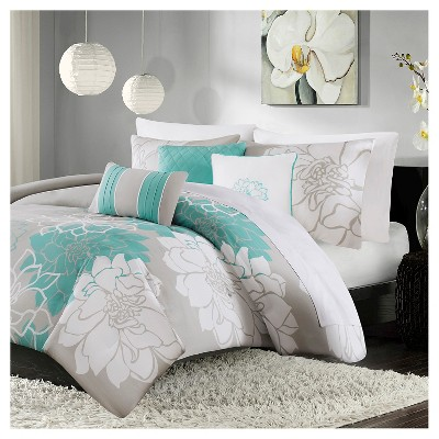 Jane Floral Duvet Cover Set 6pc