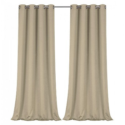 Regal Home Collections 100% Hotel Blackout Thermal Insulated Grommet Curtains (2 Pack)