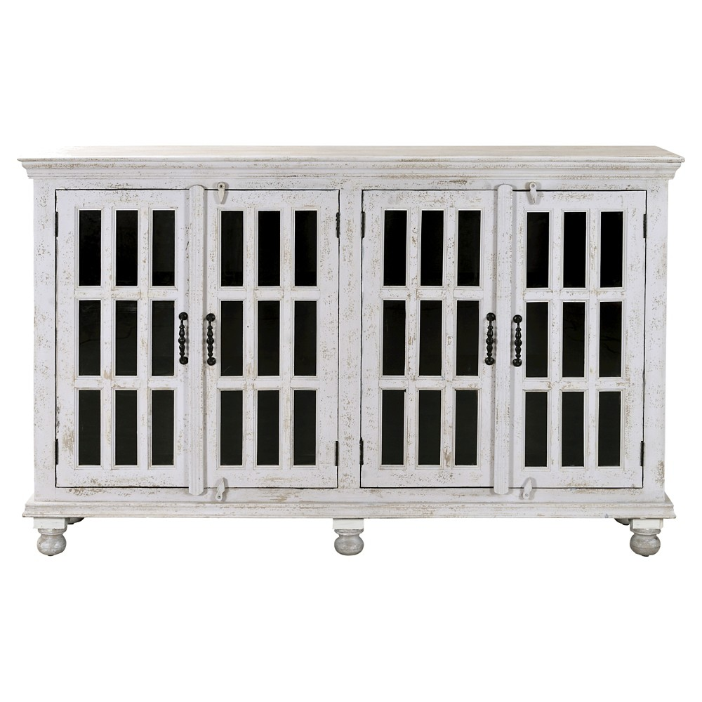 Kundara Four Door Credenza - White - Christopher Knight Home