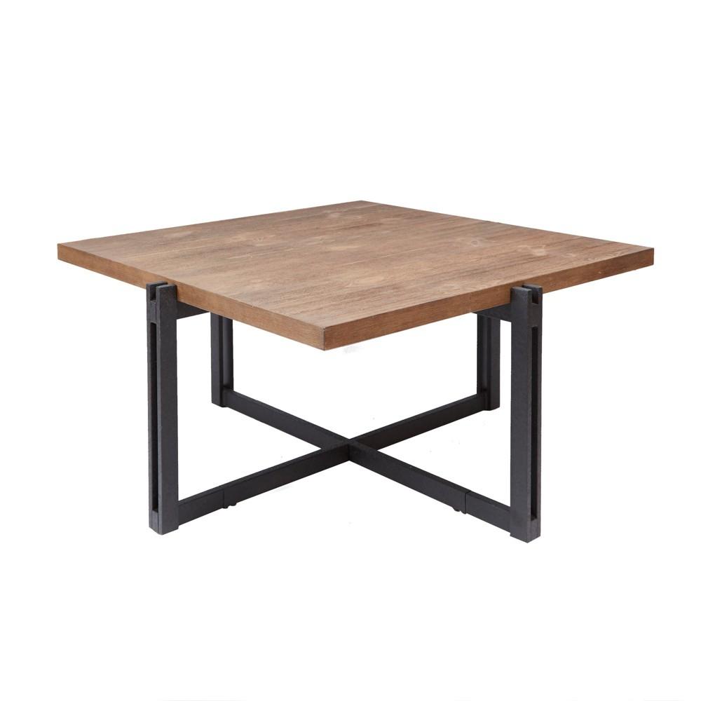 Silverwood Dakota Coffee Table With Square Wood Top Brown