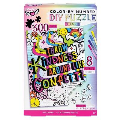 Color-By-Number DIY Puzzle Design Kit - Fashion Angels