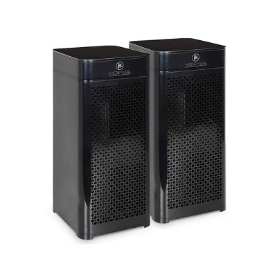 Medify Air MA-40-B2 Tower Room Air Cleaner Purifier w/ Higher Grade of HEPA-H13 Filter, 4 Speeds, and 840 Square Feet Coverage, Black (2 Pack)