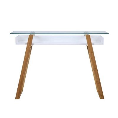 Charmant Oslo Sundance Console Table White/Bamboo Brown   Johar Furniture : Target