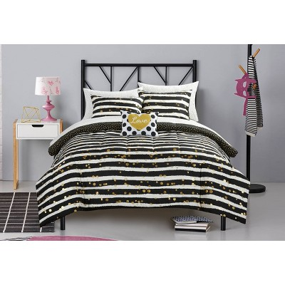 Latitude Gold Glitter Bed in a Bag Black - Heritage Club