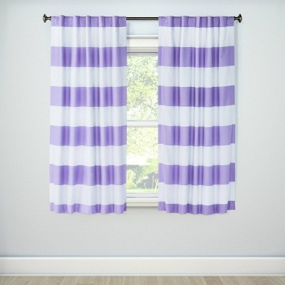 "63"" Lavender Twill Rugby Light Blocking Curtain Panel - Pillowfort™"