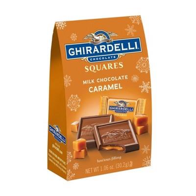 Ghirardelli Holiday Limited Edition Milk Chocolate Caramel Squares - 1.06oz