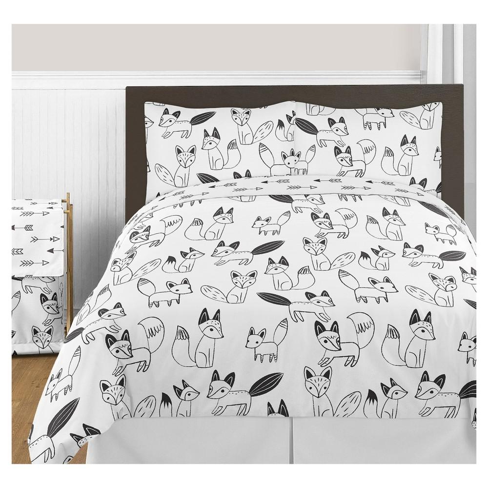 Black & White Fox Comforter Set (Full/Queen) - Sweet Jojo Designs