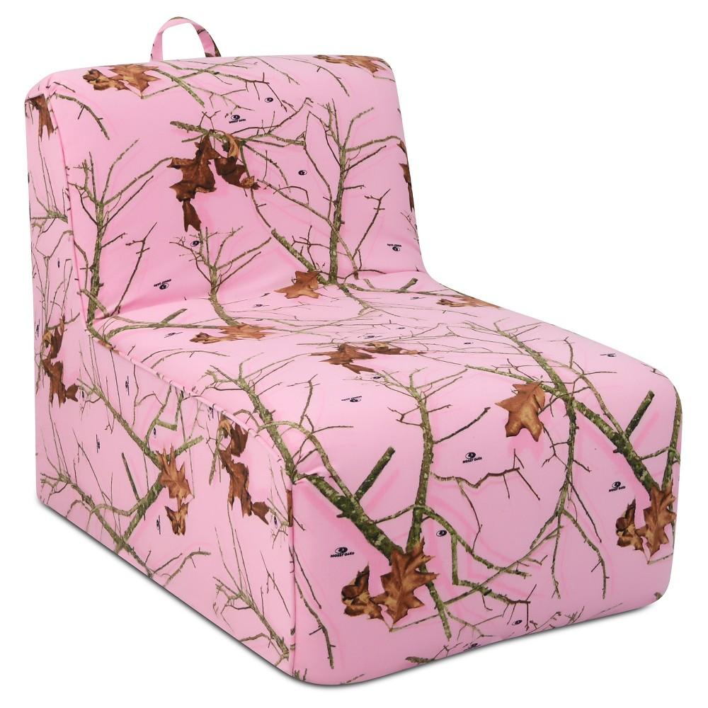 Tween Foam Lounger With Handle - Mossy Oak Lifestyle Pink - Lifestyle Pink - Mossy Oak Nativ Living thumbnail