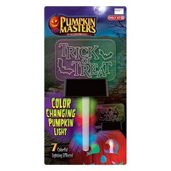 Pumpkin Masters Pumpkin Pal Stake - Lit color changing Trick or Treat