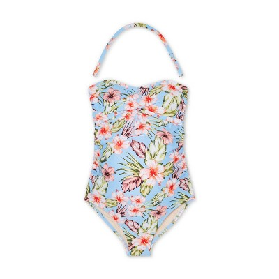 Maternity Floral Print Bandeau Twist One Piece Swimsuit - Isabel Maternity by Ingrid & Isabel™