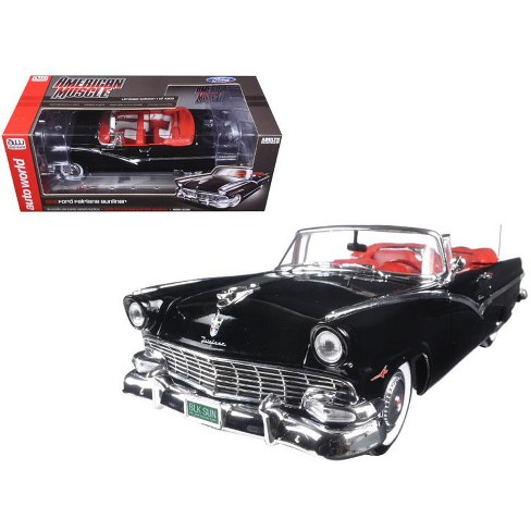 1956 Ford Sunliner 60th Anniversary Black Limited Edition to 1002pcs 1/18 Diecast Model Car by Autoworld - image 1 of 1
