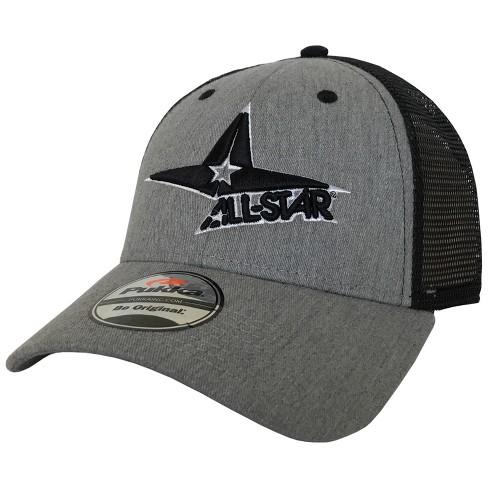 c2472b593 All-Star Logo Baseball/Softball Stretch-Fit Trucker Hat - Heather ...