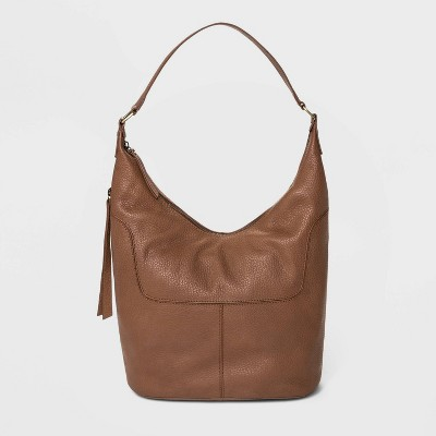 Bolo Soft Mello Pebble Leather Shoulder Bag