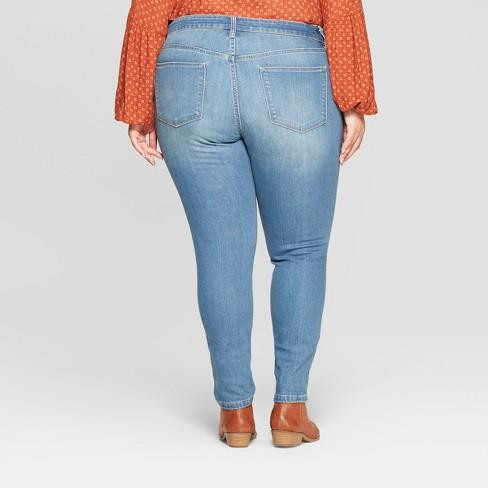 33534f71339 Women's Plus Size Jeggings - Universal Thread™ Light Wash : Target