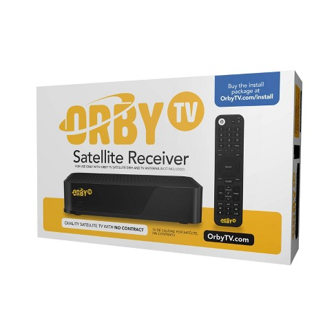 Orby TV Satellite Receiver Only Box - Black