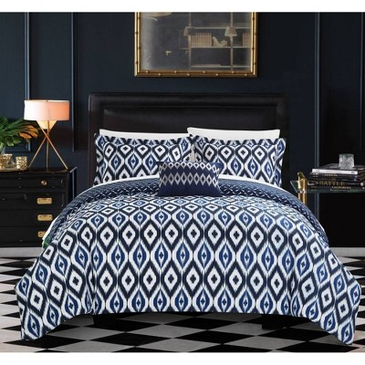 Chic Home Design Queen 4pc Gabi Duvet Cover & Sham Set Navy