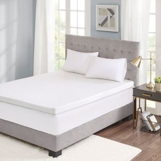 "Hypoallergenic 3"" Gel Memory Foam Mattress Toppers (Queen) White"
