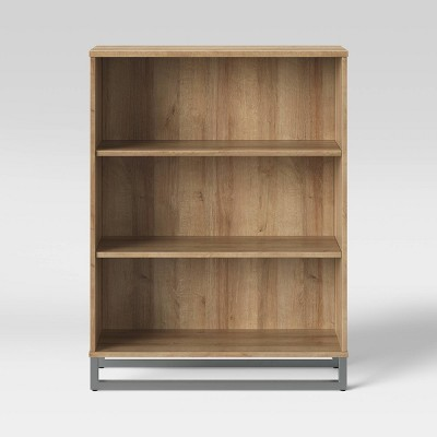 Mixed Material 3 Shelf Bookcase - Room Essentials™
