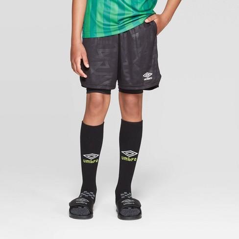 aa8653373 Umbro Boys' Knit 2 In 1 Shorts - Black XS : Target