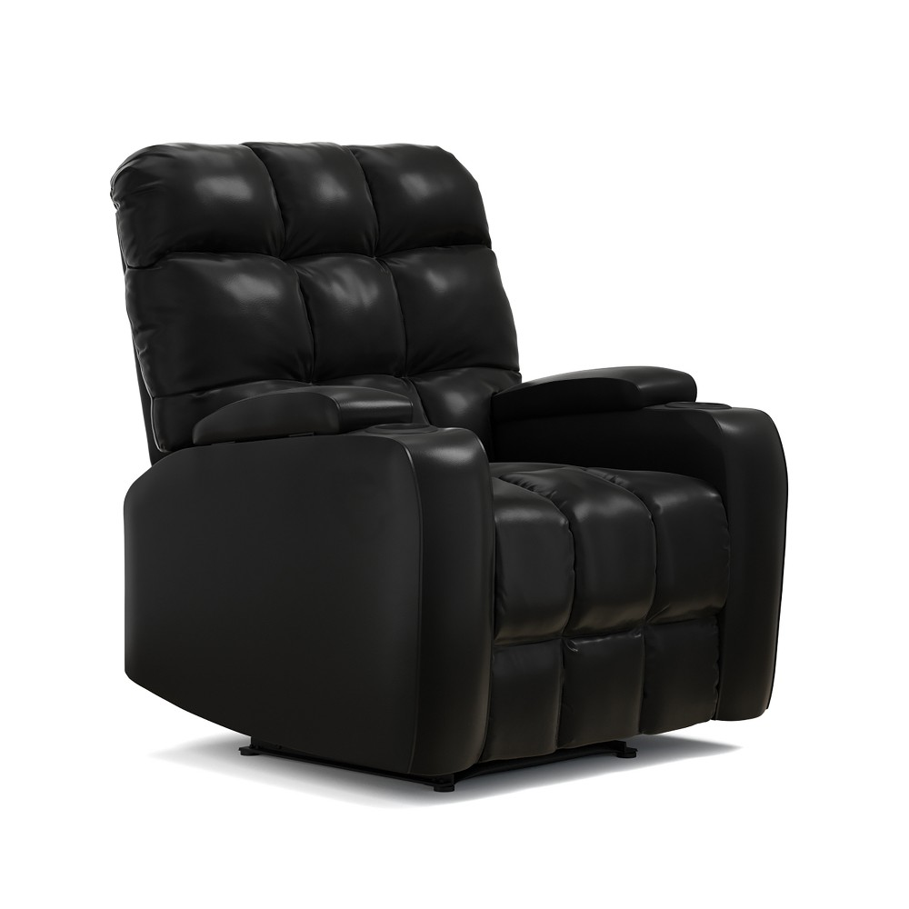 Image of Power Wall Hugger Storage Reclining Chair - Black- Prolounger