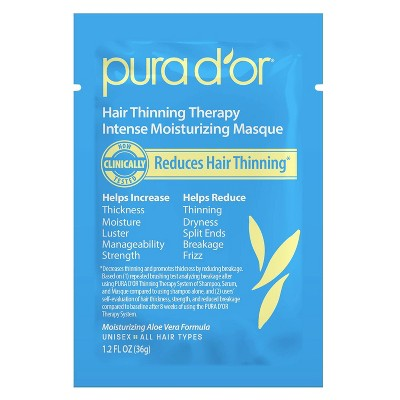 6ct Pura d'or Hair Thinning Therapy Intense Moisturizing Masque