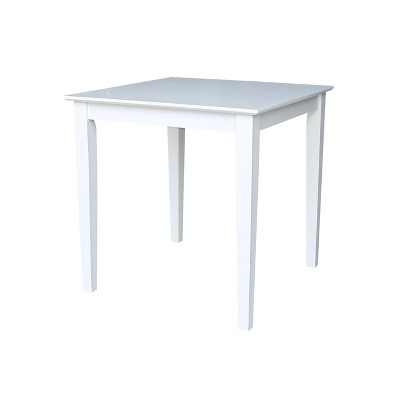 """Solid Wood 30 """" Square Dining Height Table White - International Concepts"""