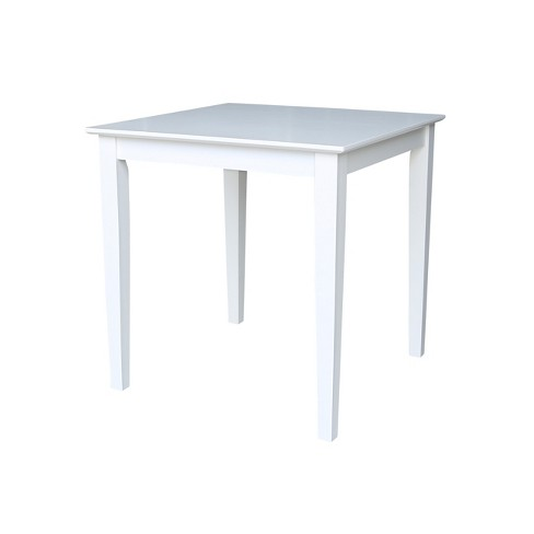 """Solid Wood 30 """" Square Dining Height Table White - International Concepts - image 1 of 4"""