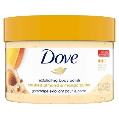 Dove Crushed Almond & Mango Butter Exfoliating Body Polish Scrub - 10.5  fl oz