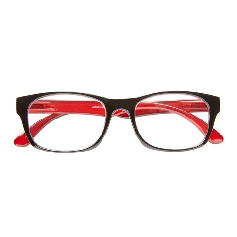 cc5a07368ea ICU Eyewear Wink Glendale Black Red Reading Glasses   Target