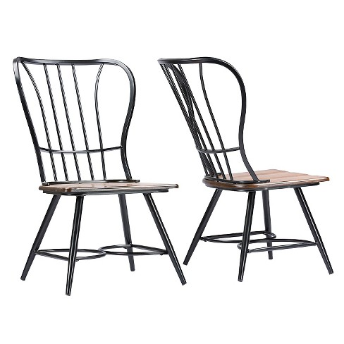Longford Industrial Dining Chair (Set Of 2) - Baxton Studio - image 1 of 3