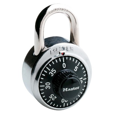"Master Lock 1-7/8"" Black Dial Combination Padlock"