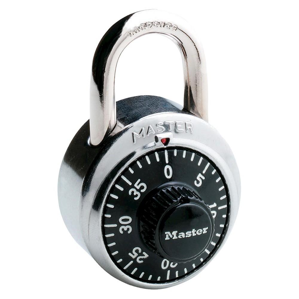 Master Lock 1-7/8 Black Dial Combination Padlock, Silver