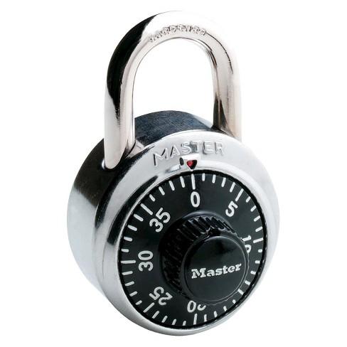 master lock padlock standard dial combination lock 1 7 8 wide