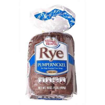 Village Hearth Pumpernickle Rye Bread - 16oz