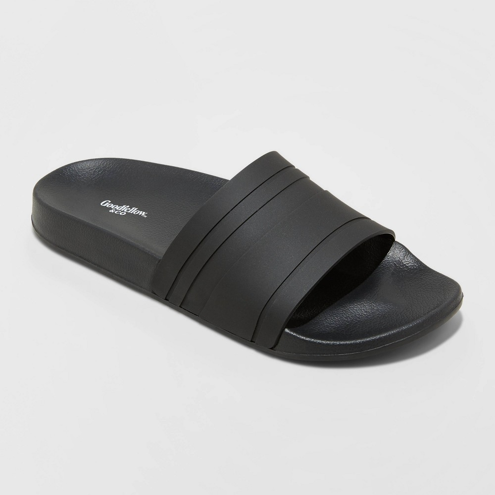Men 39 S Ricky Slide Sandals Goodfellow 38 Co 8482 Black Xl